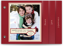 Vintage Peppermint Holiday Minibook™ Cards