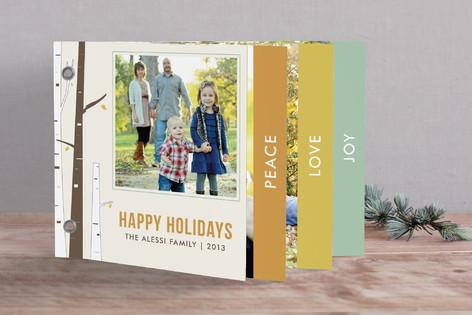 Seasonal Birch Holiday Minibook™ Cards