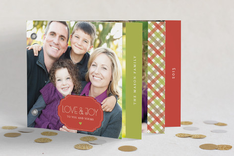 Holiday Gingham Holiday Minibook™ Cards
