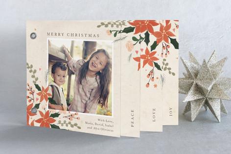 Poinsettia Holidays Holiday Minibook™ Cards