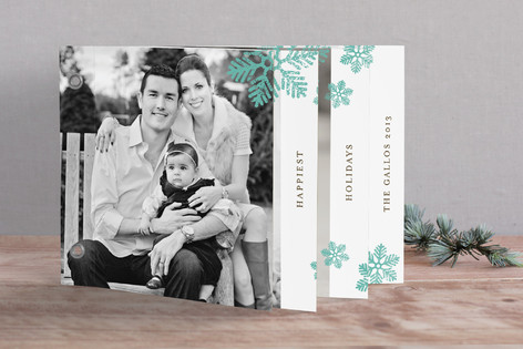 Dancing Snowflakes Holiday Minibook™ Cards