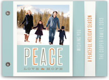 Peace Love Hope Holiday Minibook™ Cards