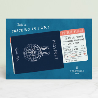 Checking in twice Holiday Petite Cards