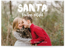 Santa Has Been Notified Holiday Petite Cards
