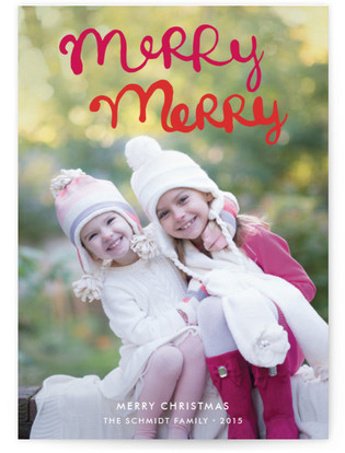 Handlettered Merry Merry Petite Holiday Cards