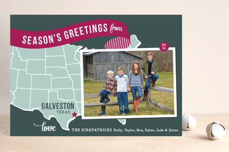 Holiday Map - Midwest Holiday Petite Cards