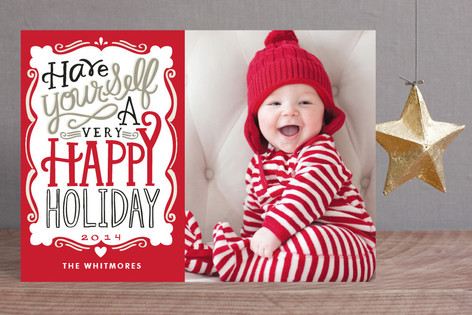 Merry Typography Holiday Petite Cards