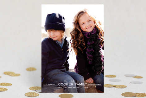 Modern Family Crest Holiday Petite Cards
