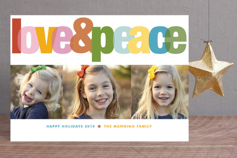 Love & Peace Holiday Petite Cards
