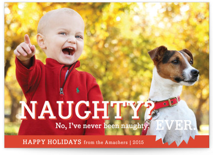 Naughty or Nice Petite Holiday Cards
