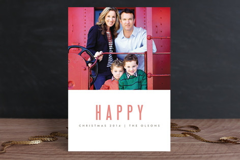 We're Happy Holiday Petite Cards