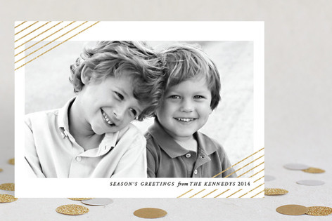 Modern Shimmer Holiday Petite Cards