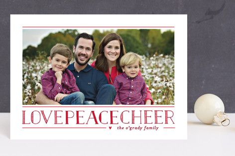 Love Peace Cheer Holiday Petite Cards
