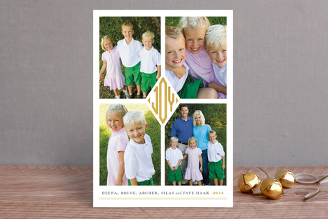 Joy Monogram Holiday Petite Cards