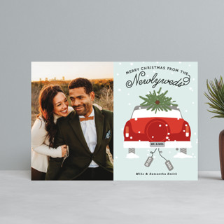 Newlywed Christmas Holiday Petite Cards