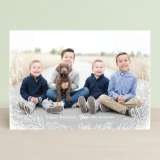 Delicate Branch Border Holiday Petite Cards