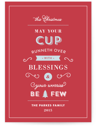 May Your Cup Runneth Over Petite Holiday Cards