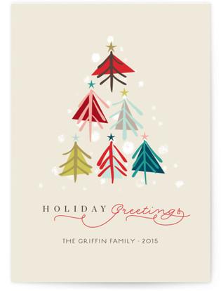 Joyous Trees Holiday Non-Photo Cards