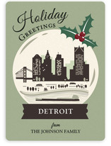 Vintage Snow Globe - Detroit