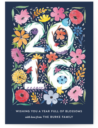 Blooming Year Holiday Non-Photo Cards