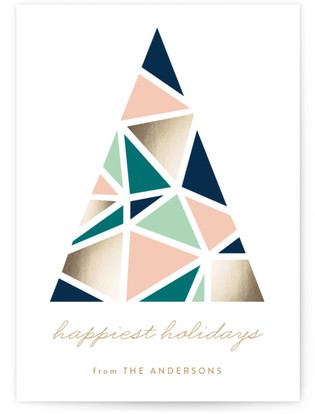 Abstract Tree Holiday Non-Photo Cards