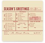 Season's Greetings Checklist