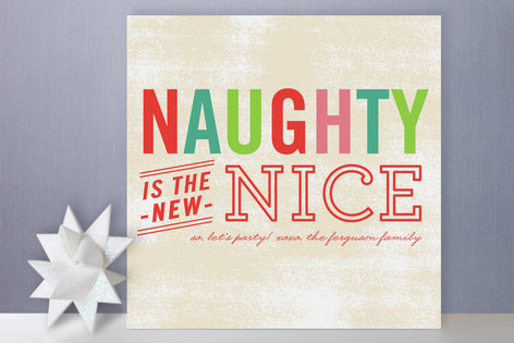 Naughty is Nice Holiday Cards
