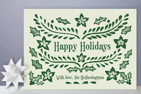 Block Printed Holiday Cards