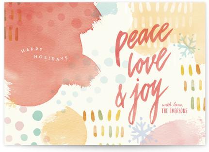 Holiday Splashes Holiday Non-Photo Cards