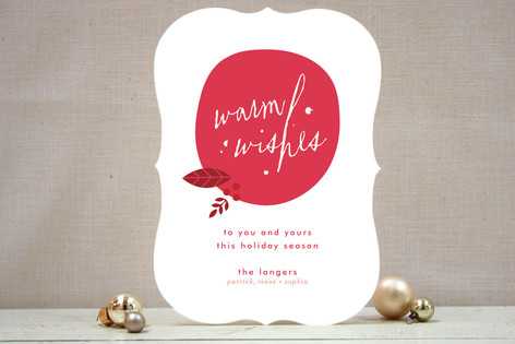 Stylized Ornament Holiday Cards