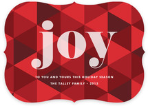 Joy Geometric Holiday Non-Photo Cards