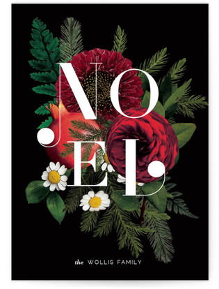 Floral Noel Holiday Non-Photo Cards