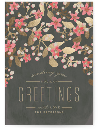 Holiday Blossoms Holiday Non-Photo Cards