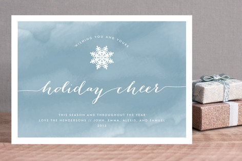 Watercolored Cheer Holiday Cards