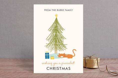 A Purrrfect Christmas Holiday Cards