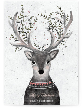 Reindeer Love Holiday Non-Photo Cards