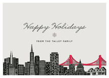 Big City - San Francisco Holiday Non-Photo Cards