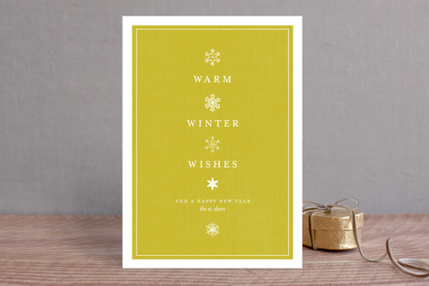 Vintage Snows Holiday Cards