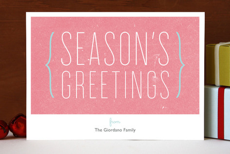 Parenthesis Holiday Holiday Cards