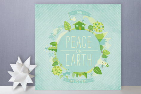Peace is Cool Holiday Cards
