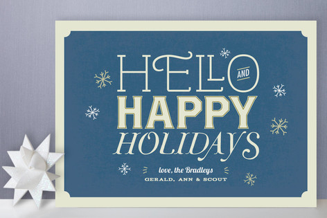 Antique Typography Holiday Cards