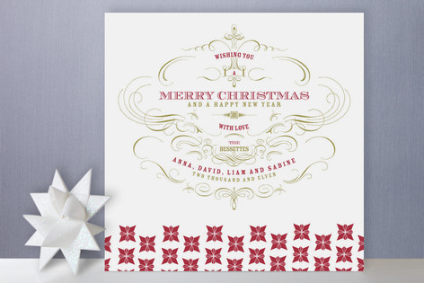 Champagne Holiday Cards