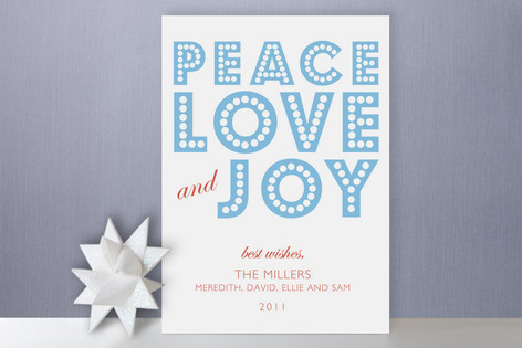 float + peace Holiday Cards