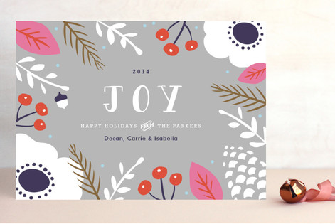 Bold Noel Holiday Cards