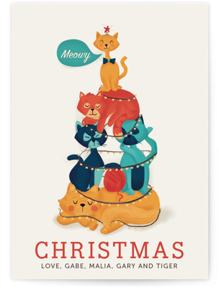 Meowy Christmas Holiday Non-Photo Cards