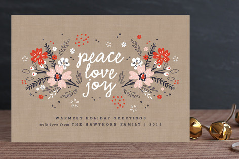 Floral Tidings Holiday Cards