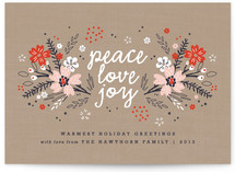 Floral Tidings Holiday Non-Photo Cards