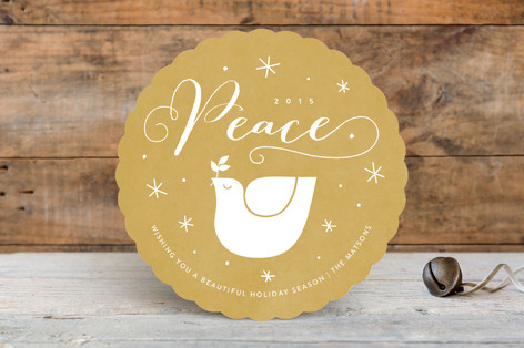 Golden Peace Holiday Cards