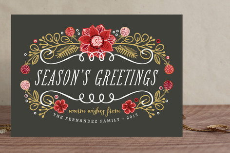 Seasonal Bouquet Holiday Cards