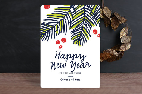 Modern Pine Holiday Cards